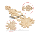 decorative carved rubber wood onlays appliques for furniture