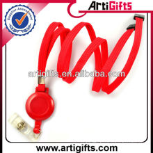 2013 Red color fashion retractable lanyard reel