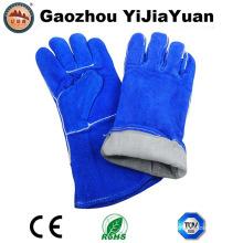 Ce En407 Protección de cuero Guantes de soldadura a mano