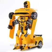 JIA QI TTT661 Bumblebee Trooper Fierce Radio Control Deform Robot 2.4G - YELLOW AND BLACK Rc Robot