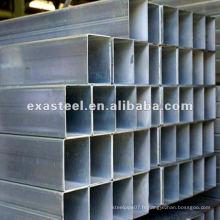 Tuyau carré galvanisé à chaud et chaud pour meubles