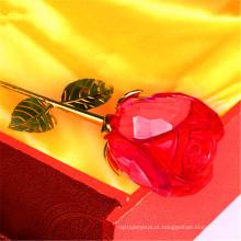 Venda quente de boa qualidade cristal rosa flores artificiais presentes de casamento para decoração de mesa