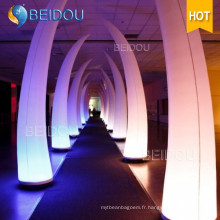 Décoration de mariage Inflatable LED Column Arch Tube Cones Ivory Tusk