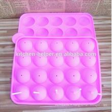 Lovely Color 20 Holes Silicone Lollipop Moule pour cuire avec des bâtons