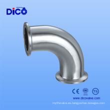 Codo sanitario de la abrazadera del tubo del acero inoxidable 316 para el fabricante