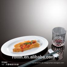Gerichte & Teller Essgeschirr Art Speisen zum Restaurant Porzellan Buffet Teller