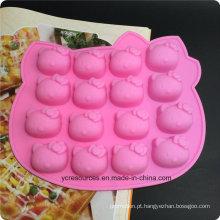 Molde da vara do bolo do PNF de 16 bandejas do silicone, projeto de Hello Kitty