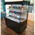 Small open air display drinks and fruit refrigerator