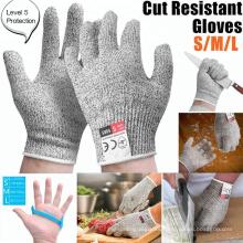 Guantes de seguridad de cocina resistentes al fuego de nivel 5 de Cut Proof