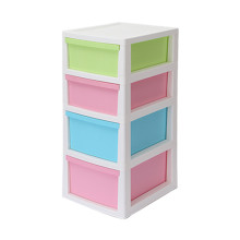 Plastic Four Layer Underwear Socks Storage Drawer Cabinet