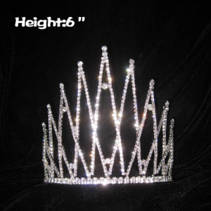 6in Height Unique Classic Crystal Pageant Crowns