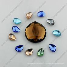 Pierres en verre rondes de bijoux de miroir de dos plat pour la fabrication de bijoux