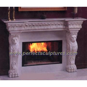Stein Marmor Kamin für Indoor Granit Kamin Mantel (QY-LS014)