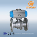 API6D flange connection gas ball valve 1.4408 flanged ball valve dn40 wcb