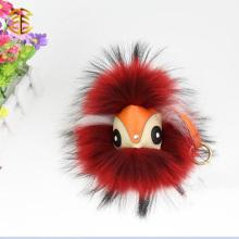 Waschbär-Pelz-Monster Pom Pom für Schlüsselring-Schlüsselketten-Beutel-Auto-Charme