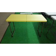 Mesa de picnic de los muebles que acampan 4FT Foldig en medio tabla al aire libre