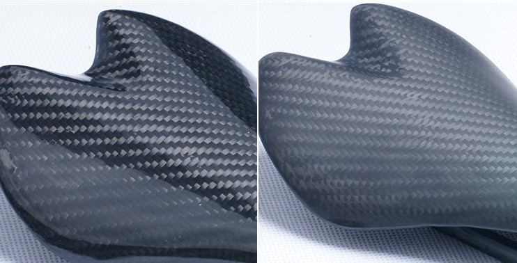 Carbon fiber glossy&matt saddle