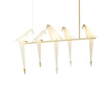 New Design Bird Simple White Paper Crane Pendant Lamp Chandelier