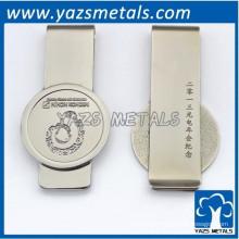 clipe de dinheiro em alumínio cromado
