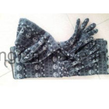 New Style Lady Knitting Winter Warm Printed Polar Fleece Set