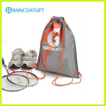 Logo Printed Nylon Drawstring Backpack Shoe Bag