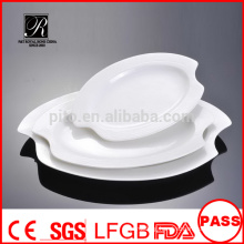 Manufacturer porcelain /ceramic banquet leaf plate fish plate meat plate oval plate