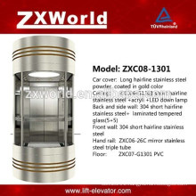 Full Glass Panoramic Passenger Elevator ZXC08-1301