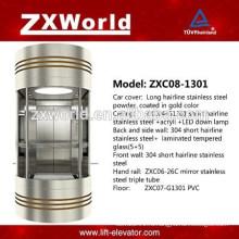 Полностеклый панорамный пассажирский лифт ZXC08-1301