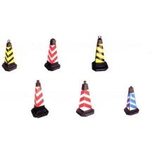 Cone de tráfego de segurança reflexivo colorido