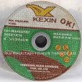 Disco de corte fino de centro deprimido de 4.5 '' para Inox 105X1.0X16