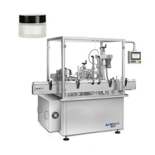 Face cream jar mono block filling capping machine for cosmetic lotion and toner