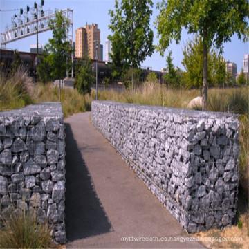 Gaviones de piedra soldados para la dection del jardín