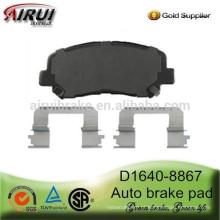 D1640-8867 semi-metálico e cerâmica auto freio pad para Dodge Dart 2013 ano