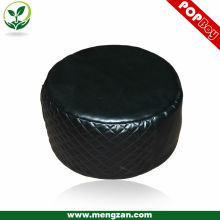 luxury black PU leather cushion round stool,beanbag cushion