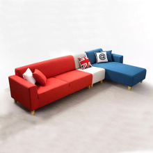 Fabric Corner L-Shaped Sectional Sofa Set