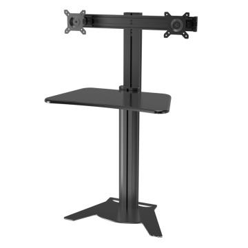 "Desktop & Wallmount Workstation Dual Monitor 10-24"" Height Adjustment (DW 002A)"