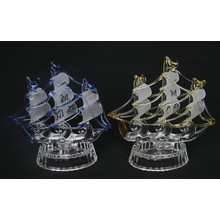 Crystal Boat Model Glass Velero Estatuilla Crystal Sailing