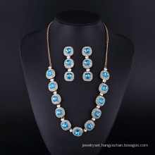 Silver Plating Fashion Sapphire Diamond Neckalce for Womwn