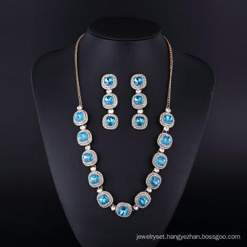 Silver Plating Fashion Sapphire Diamond Neckalce for Womwn