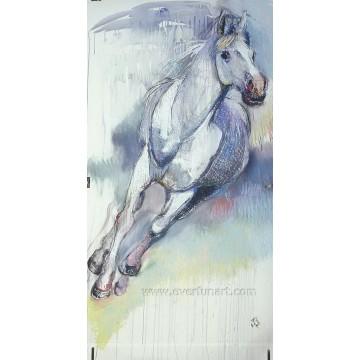 100% Ручная работа Холст Бегущая лошадь Живопись для домашнего декора (EAN-375)