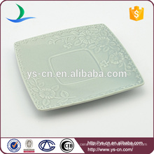 wholesale ceramic flower square dish for decoration