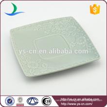 wholesale ceramic flower square dish for decoration