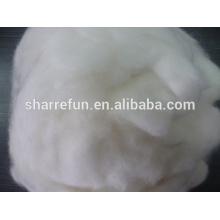 Fibra de lana de angora blanca depilada 100% pura