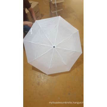 Manual Open White 3 Fold Umbrella