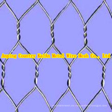 Acoplamiento de alambre hexagonal galvanizado, alambre hexagonal revestido del PVC ----- 34 años facyory