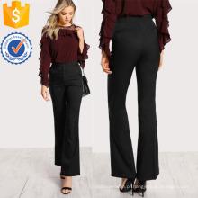 Alto Rise Flare Hem Calças Fabricação Atacado Moda Feminina Vestuário (TA3096P)