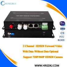 Отель hongrui цена завода оптического волокна в HD-SDI видео передатчик SDI-сигнала расширитель