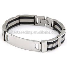 Moda pulseira de aço inoxidável punho pulseira homem