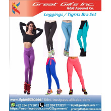 Custom Cheap Wholesale Sports Bra and leggings sets / tights