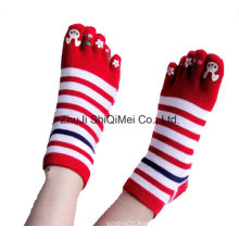 Factory Customized Colorful Design Five Toe Happy Socks